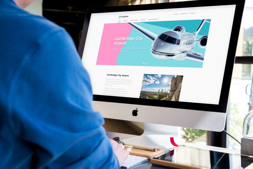 New look and website put airport in the pink